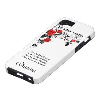 Atrévase a ser un caso de cáscara duro de Diana iPhone 5 Carcasa