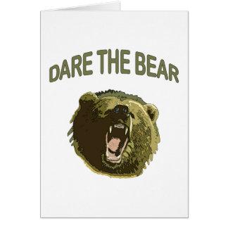 Atrévase el oso tarjeta pequeña