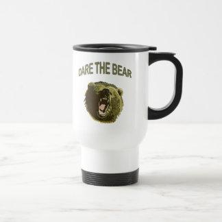 Atrévase el oso taza de viaje