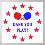 Atrévase le a jugar a ping-pong impresiones