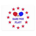 Atrévase le a jugar a ping-pong tarjetas postales