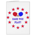 Atrévase le a jugar a ping-pong tarjetón