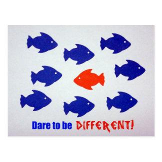 ¡Atrevimiento a ser diferente! Postales