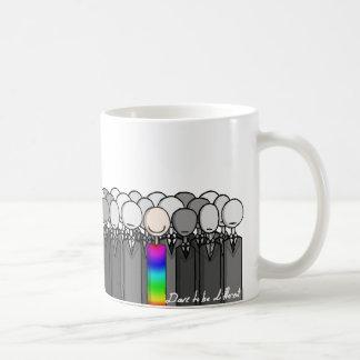 Atrevimiento a ser diferente tazas de café