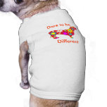 Atrevimiento a ser diversa ropa del perro casero d camiseta de perro