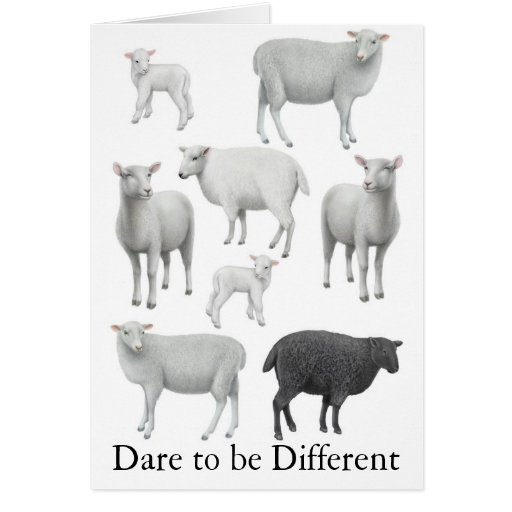 Atrevimiento a ser diversa tarjeta de felicitación