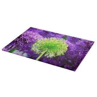 Atrevimiento a ser floral púrpura de diversa verde tablas de cortar