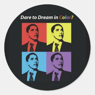 Atrevimiento al sueño en pegatina de la campaña