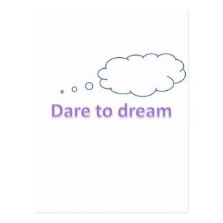 atrevimiento al sueño tarjetas postales