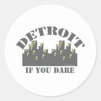 Atrevimiento de Detroit Pegatina Redonda