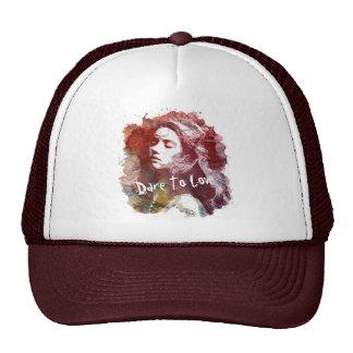 Atrevimiento para amar el gorra del camionero del