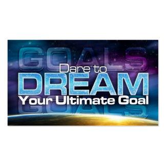 Atrevimiento para soñar la tarjeta de la meta tarjeta de negocio