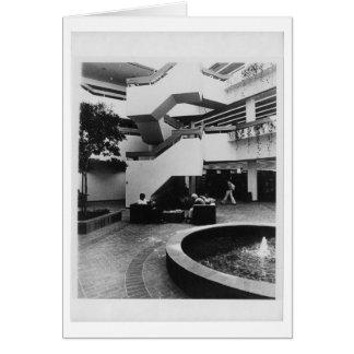 Atrio de Von der Ahe Library (1984) Tarjeta De Felicitación
