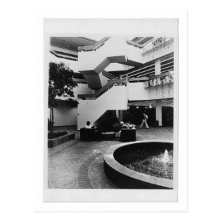 Atrio de Von der Ahe Library (1984) Tarjetas Postales