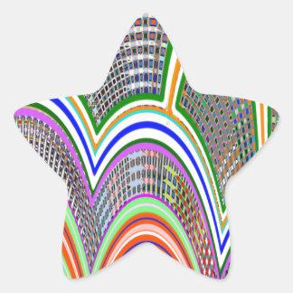 ATRIUM at BAY : Graphic Pattern by Navin Star Sticker