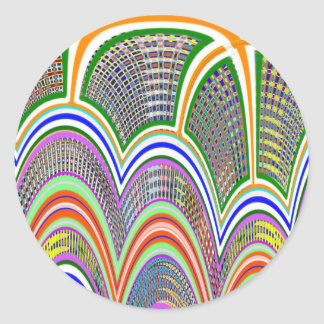 ATRIUM at BAY : Graphic Pattern by Navin Classic Round Sticker