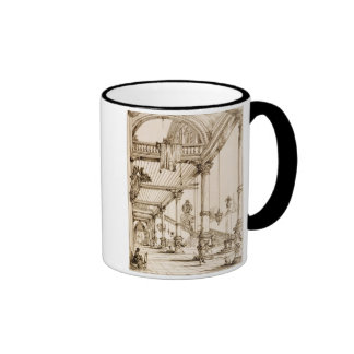Atrium of a Palace, in Genes, from 'Art and Indust Ringer Coffee Mug