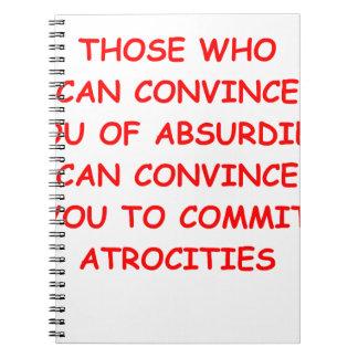 atrocities spiral notebooks
