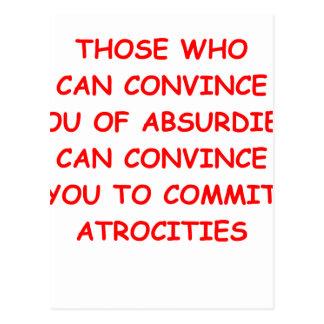 atrocities postcard
