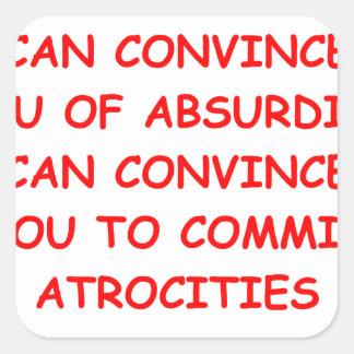 atrocities square sticker