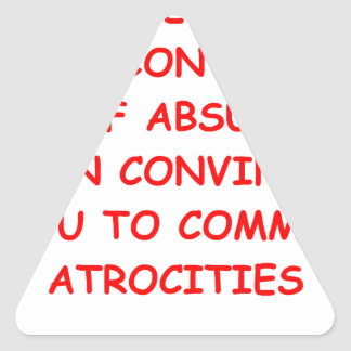 atrocities sticker