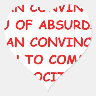 atrocities heart sticker