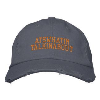ATSWHATIMTALKINABOUT Blue and Orange Chino Hat