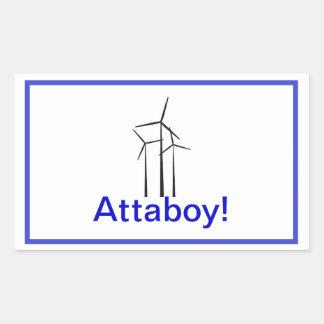 Atta Boy Wind Turbine Rectangular Sticker