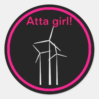 Atta Girl! Classic Round Sticker