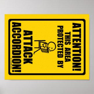 Attack Accordion Print