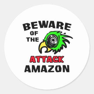 Attack Amazon Classic Round Sticker