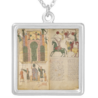 Attack and Taking of Jerusalem by Silver Plated Necklace