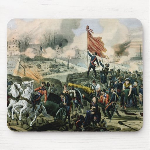 Attack at Pont de Neuilly and Courbevoie Mouse Pad