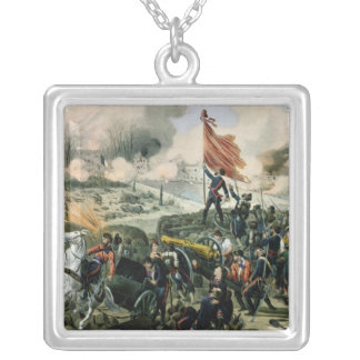 Attack at Pont de Neuilly and Courbevoie Square Pendant Necklace