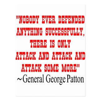 Attack Attack Attack Gen George Patton Postcard