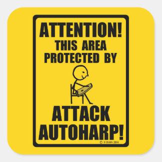 Attack Autoharp Square Sticker