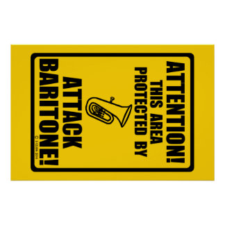 Attack Baritone Posters