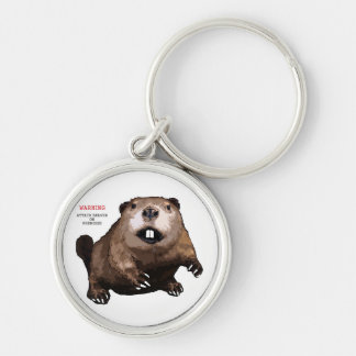 Attack Beaver Key Chain