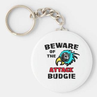 Attack Budgie Keychain