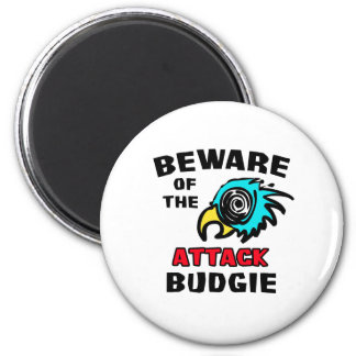 Attack Budgie Magnet