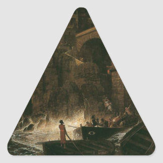 Attack by Pirates by Arnold Böcklin Triangle Sticker