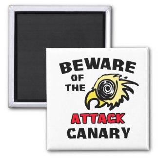Attack Canary 2 Inch Square Magnet