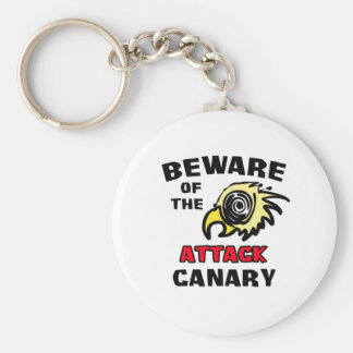 Attack Canary Basic Round Button Keychain