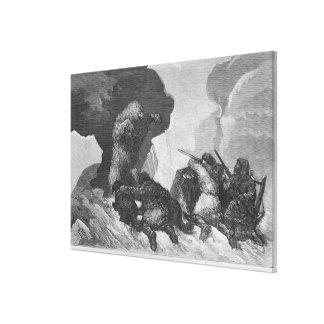 Attack Canvas Print
