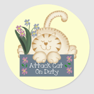 Attack Cat on Duty Stickers