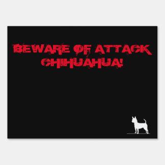 Attack Chihuahua Yard Sign