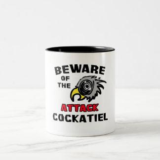 Attack Cockatiel Two-Tone Coffee Mug