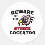 Attack Cockatoo Classic Round Sticker