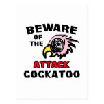 Attack Cockatoo Postcard