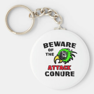 Attack Conure Basic Round Button Keychain
